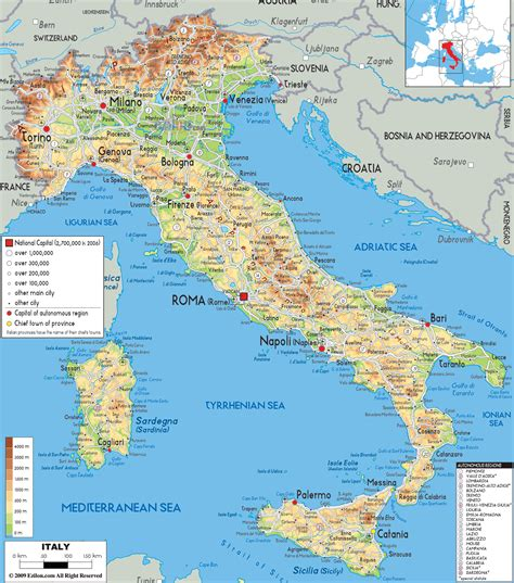map of all cities map of italy map of world map