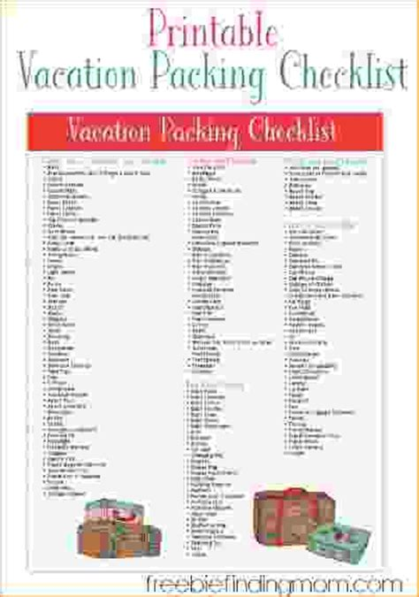 family vacation packing list template 11 family vacation packing list pay stub template