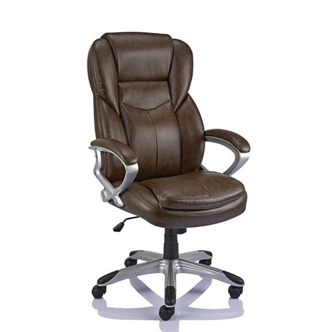brown leather executive desk chair staples giuseppe bonded leather executive chair brown