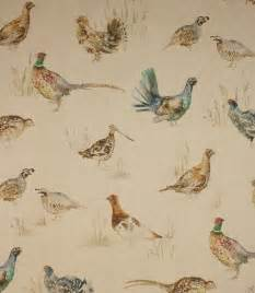 voyage decoration game birds fabric linen just fabrics