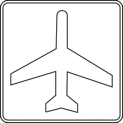 Aeroplane Outline Drawing