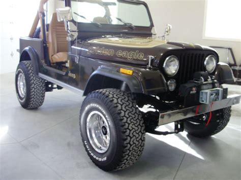 jeep cj golden eagle 1985 jeep cj7 golden eagle jeep cj 1985 for sale