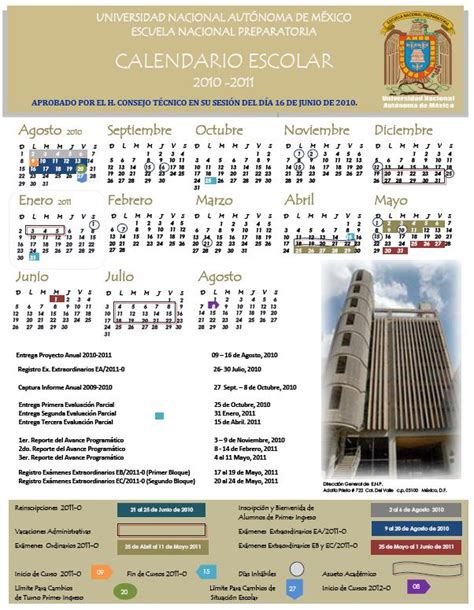 calendarios escolares 2010 2011 escolar mx
