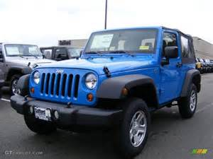 Bright Blue Jeep Wrangler 2011 Cosmos Blue Jeep Wrangler Sport 4x4 46777001