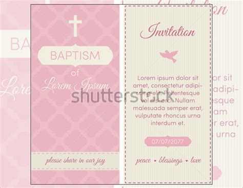 free baptism templates for printable invitations baptism invitation templates 27 free psd vector eps