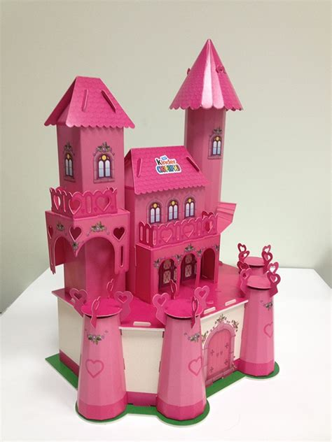 Paper Craft Castle - 3d paper craft quot castle for a princess quot on behance