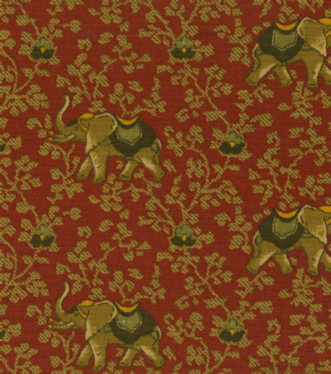 elephant upholstery fabric home decor print fabric pkaufmann elephant walk cream jo ann