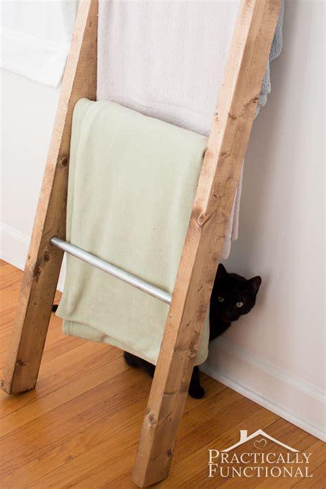 blanket ladder diy for flat pinterest how to make a blanket ladder