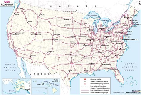 usa map for driving usa road network map travel and architecture