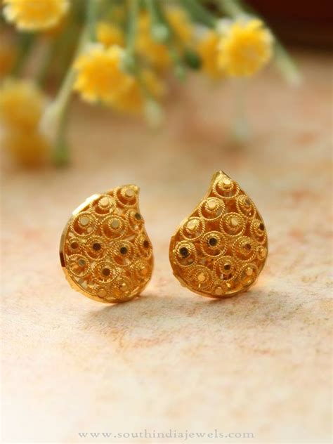 Ear Stud simple gold ear stud south india jewels