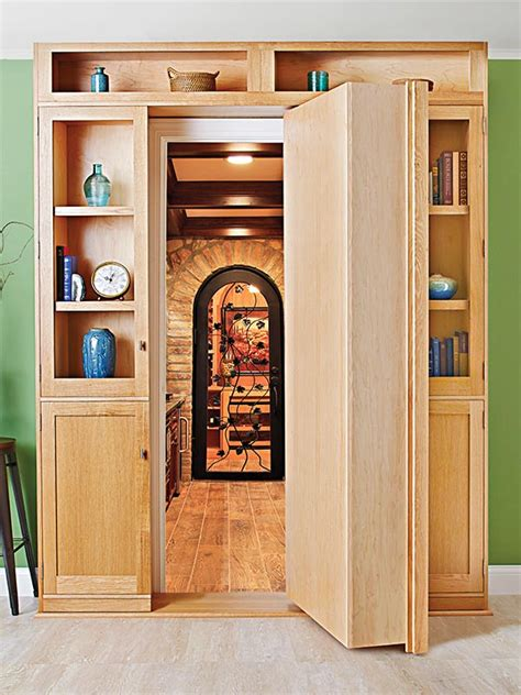 hidden bookcase door hidden door bookcase woodworking plan from wood magazine