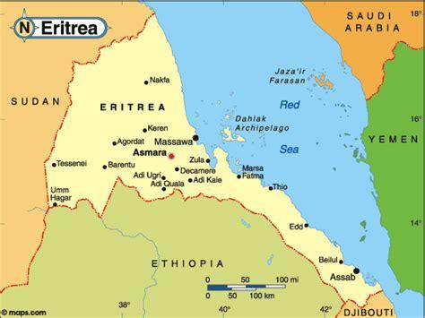 eritrea map eritrea sea map