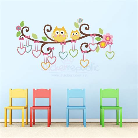 owl wall stickers owls scroll tree branch wall decal owls scroll tree wall