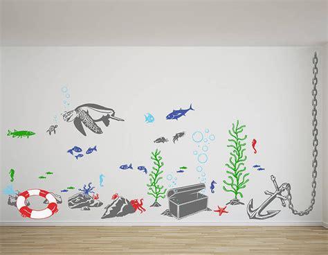 sea wall stickers the sea vinyl wall sticker set contemporary wall
