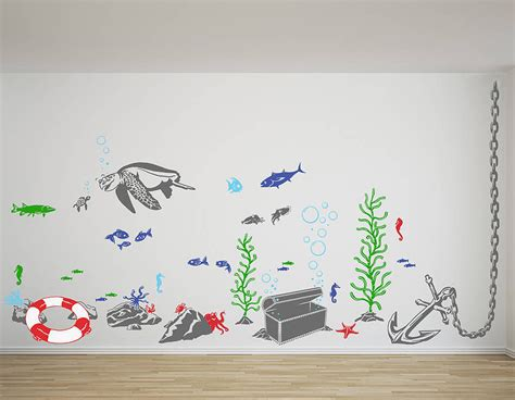 ?Under The Sea? Vinyl Wall Sticker Set Contemporary Wall Stickers