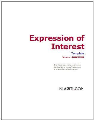 template for expression of interest writing 7 ways to build trust in business proposals