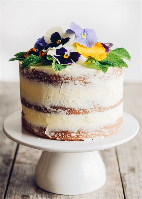 Spring Home Decorating Ideas by Triple Lemon Layer Cake With Edible Flowers
