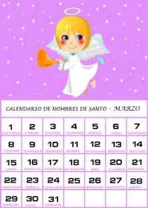 Calendario De Marzo Calendario De Nombres De Santo Marzo