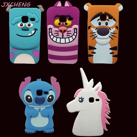 Samsung Galaxy J1 Mini 3d Sulley Stitch Soft Casing Bumper 3d lilo stitch unicorn monsters sully tigger soft silicone phone for