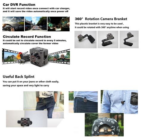 1280 X 720p 12mp Mini 4in1 Photo Audio Motion sq8 mini dv 1080p hd car dvr review techfunology