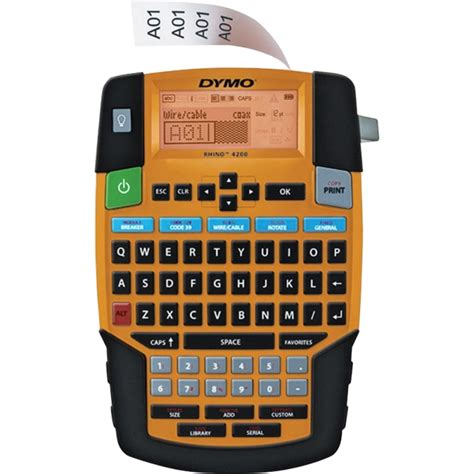 design dymo label dymo 1801611 rhino 4200 label printer