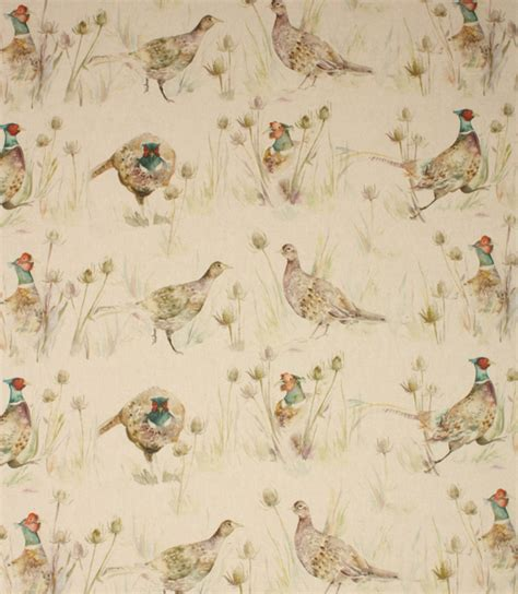 Plaid Curtains And Drapes Voyage Decoration Bowmont Pheasants Fabric Linen Just