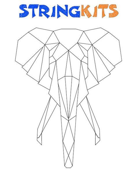 Elephant String Template Elephant String Art Template