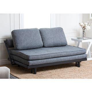 futon firenze abbyson living florence graphite fabric convertible sofa