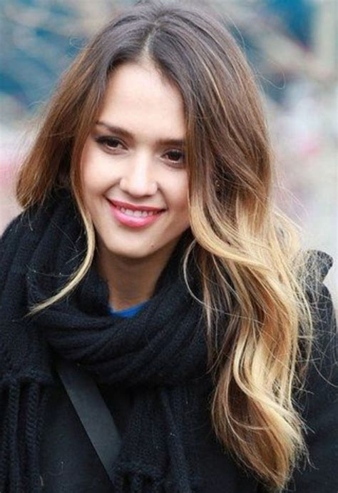 jessica alba long hairstyles stylish loose curls for any