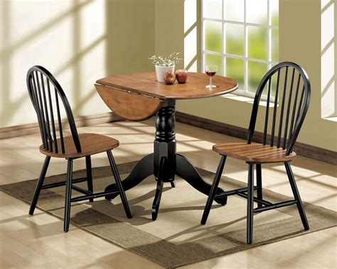 nantucket 3pc black cherry dining table set