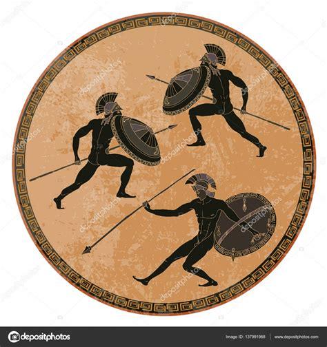 vasi greci antichi soldati greci antichi ceramica a figure nere antica