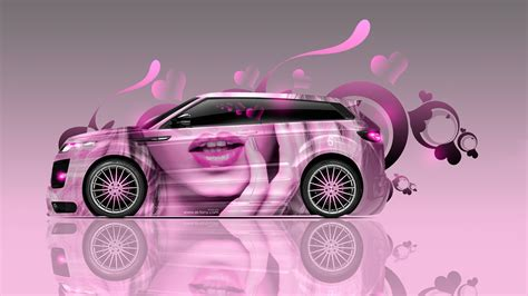 range rover pink wallpaper land rover evoque side glamour lips aerography car