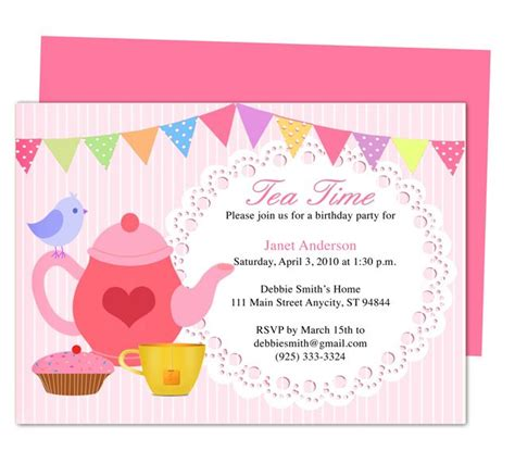 template free printable birthday party invitation templates for