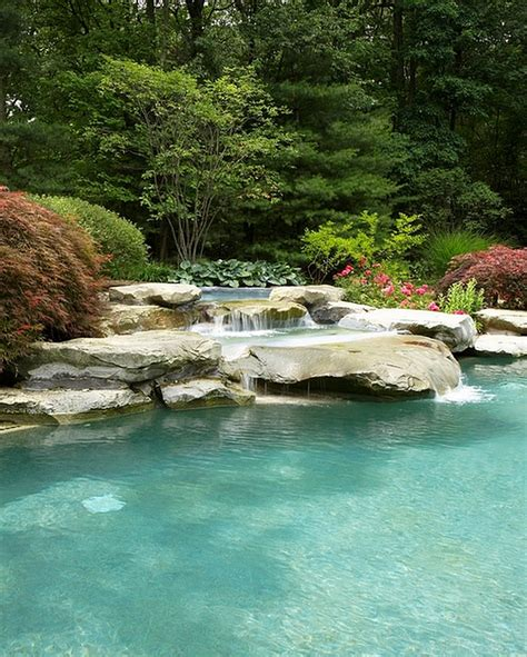 pool waterfalls breathtaking pool waterfall design ideas