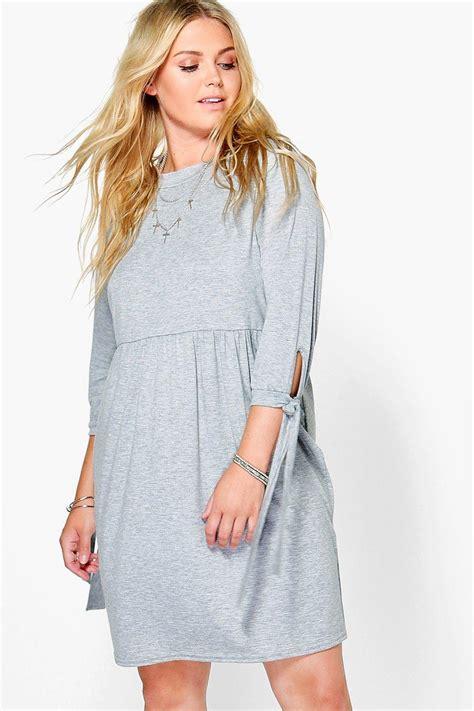 Blus Saski by Plus Saskia Tie Detail Smock Dress At Boohoo