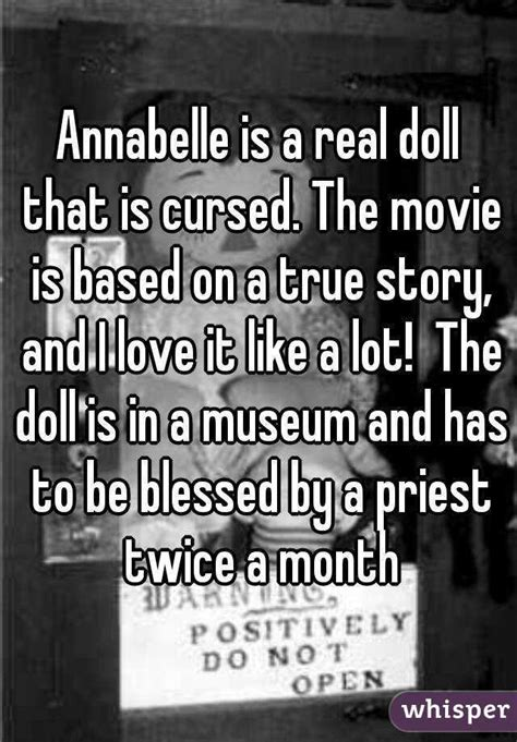 annabelle doll based on true story annabelle is a real doll that is cursed the is