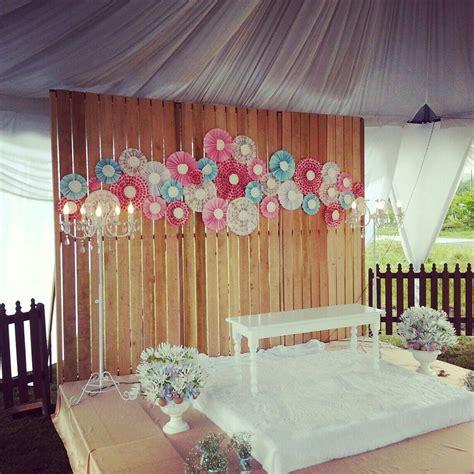 Handmade Backdrops - diy sempoi wedding backdrop idea weddings