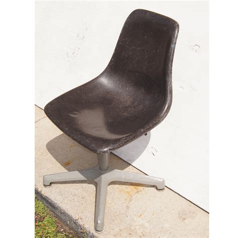 fiberglass shell chair vintage gray fiberglass shell side chair swivel