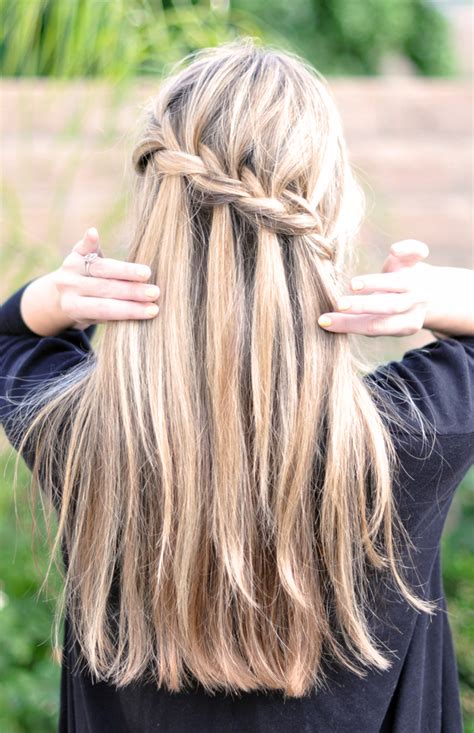 hairstyles braids waterfall three good grapes we re obsessed the waterfall braid