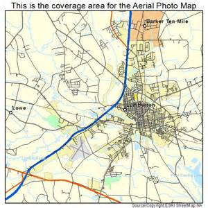 aerial photography map of lumberton nc carolina