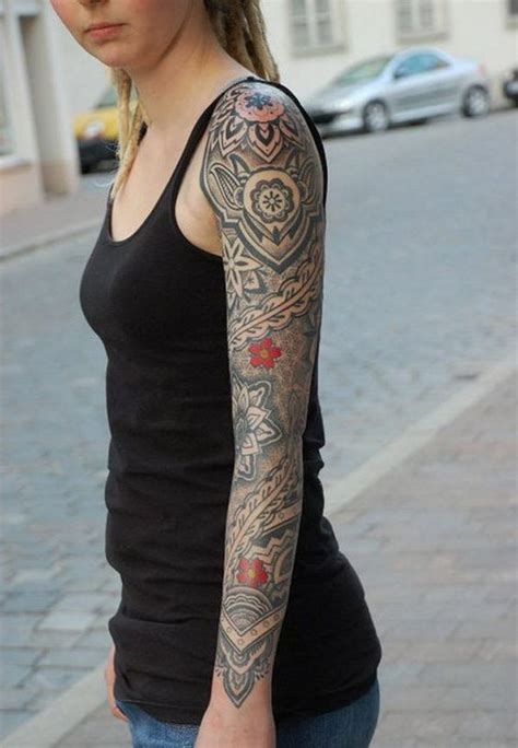 womens sleeve tattoos 40 cool and pretty sleeve designs for