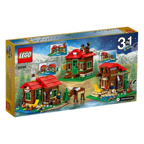 amazon lego lego creator 31048 lakeside lodge set lego amazon co uk