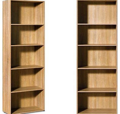 deuba gmbh co kg oak bookcase large bookshelf oak
