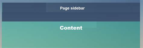 div tag position html how to change sidebar div position to the top of