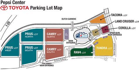Toyota Parking Parking Directions Pepsi Center