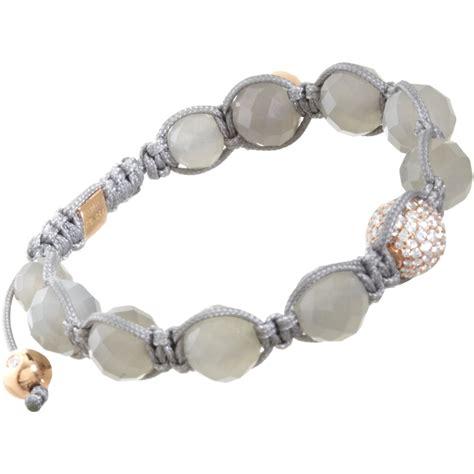 shamballa jewels moonstone pave bead bracelet in
