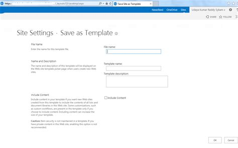 save site as template sharepoint 2013 ukreddy sharepoint journey issue save site as template