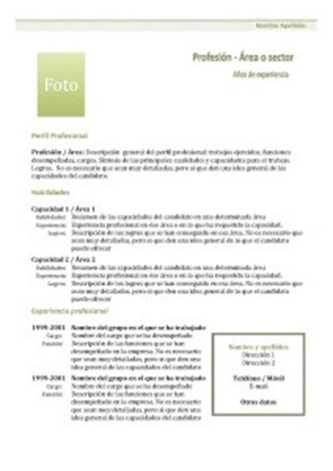 Plantilla De Curriculum Vitae Pdf plantillas de curr 237 culum vitae hacer curriculum
