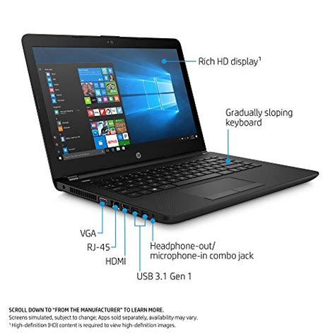 Ram Laptop Hp 14 hp 14 inch laptop amd dual e2 9000e 4gb ram 500gb drive windows 10 14 bw010nr