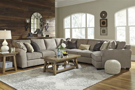 5 pc sectional sofa pantomine driftwood 5 pc raf chaise sectional 39102